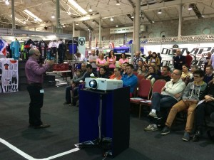 presenting at the Cycle Show